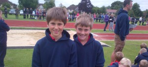Year 6 sport their leavers-tops at Sports Day